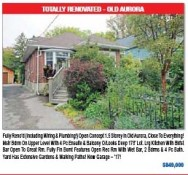 TOTALLY RENOVATED home in OLD AURORA