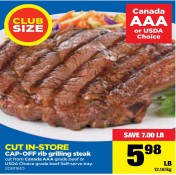 CAP-OFF rib grilling steak cut from Canada AAA grade beef or USDA