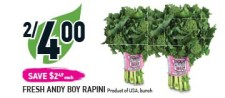 FRESH ANDY BOY RAPINI at Coppas Fresh Market