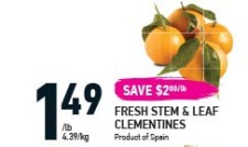 FRESH STEM & LEAF CLEMENTINES at Coppas Fresh Market