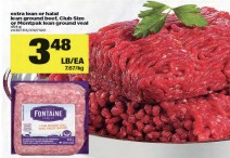 extra lean or halal lean ground beef, Club Size or Montpak lean ground veal