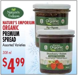Nature's Emporium Organic Premium Spread