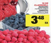 12 OZ CLAMSHELL blueberries